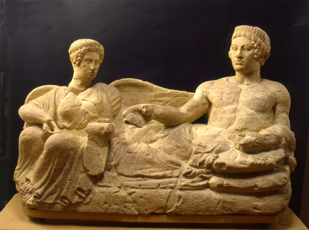 Etruscan husband and wife sarcophagus